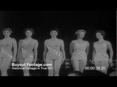 HD Stock Footage Miss Universe Crowned in Long Beach 1959