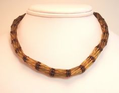 Bamboo For You Beadwoven Necklace by njdesigns1 on Etsy, $50.00