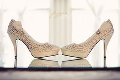 Love letter bridal shoes