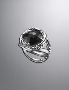 My new favorite jeweler, David Yurman Infinity Ring, Black Onyx Black Rings, Silver Rings, Arrow Jewelry, Jewelry Box, Jewellery, Southwestern Jewelry, Tiffany Jewelry, Beautiful Watches, David Yurman