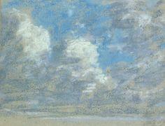 Eugène Boudin - Etude de Ciel.