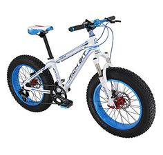 Richbit Cruiser Bike Mountain Bike Snow Road Bike RT015 Blue Aluminium Frame 40 Fat Tire 1520 with Suspension Fork 7 Speeds Hydraulic Disc Brakes >>> Find out more about the great product at the image link.