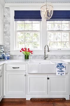 1900s Kitchen Remodel in Navy Blue and White - Town & Country Living