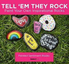 Painted Sentiment Rocks