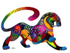 Oaxacan Big Cat by *JillianLambertArt on deviantART