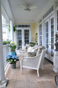 Upper Back Porch for Spring 2014 #frenchdecor