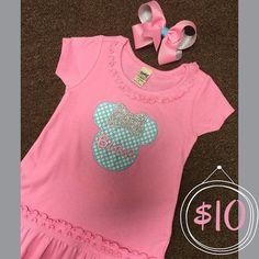 Baby, girls disney outfit  #palmettotwist #monogramthat