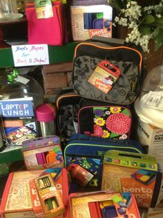 Time for school lunches... Bento boxes, thermos and bags all ready to create happy lunches! Find them at Pryde's Old Westport - (816) 531-5588 or http://kcrestaurantguide.com/html/restaurant=727