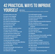 42 practical ways to improve yourself