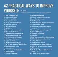 42 practical ways to improve yourself
