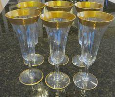 Vintage Tiffin Glass Panel Glass Champagne by VintageVogueTreasure, $69.00