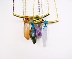 Raw Crystal Quartz Necklace