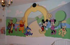 Wall mural ideas for kids room Idei pentru decorarea peretilor din camera copiilor