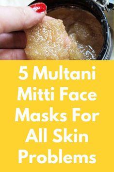 5 Multani Mitti Face Masks For All Skin Problems -  # #AloeVeraForSkin Mask For Oily Skin, Face Mask For Blackheads, Skin Care Masks, Acne Face Mask, Skin Mask, Homemade Face Masks, Homemade Skin Care, Face Mask For Spots, Charcoal Face Mask