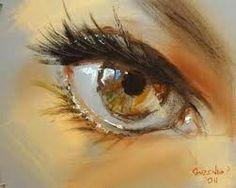 Pintura a óleo de um olho