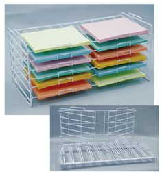 """(White) 12"""" X 12"""" K/D Stackable Rack, 73-065, Scrapbook And Paper Racks.   Could use for my sheets of vinyl."""