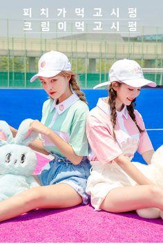 Peach Milk Cap - I know you wanna kiss me. Thank you for visiting CHUU. Korean Girl Fashion, Cute Fashion, Fashion Outfits, Cute Summer Outfits, Cute Outfits, Korean Best Friends, Best Friend Outfits, Fashion Photography Inspiration, Cute Girl Photo