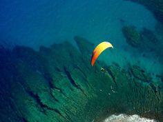 Vol en parapente biplace sur la Réunion: Survol du lagon avant l - France-Voyage.com