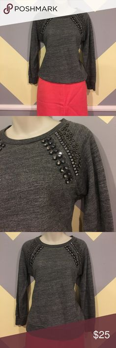 Grey Rhinestone Sweater - J.Crew Smoke Free. Offers always welcome. Questions answered within 24 hours. 💕 J. Crew Sweaters Crew & Scoop Necks
