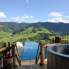 This is the Willy Bogner-Chalet in Priesteregg, Germany overlooking the spectactular Leoganger Steinberge Mountains.
