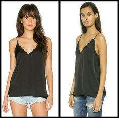 {Free People} black scalloped tank top SM New with tags sheer black strappy tank top from Free People.  * willing to negotiate price through offer button *  * No trades / No paypal *  * bundle discounts * Free People Tops Tank Tops