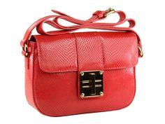 Bolsa feminina pequena estilo vintage em couro genuíno estampa cobra.