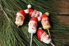 Vintage Plastic Santa Cupcake Pick by PhoebesTreasureChest on Etsy