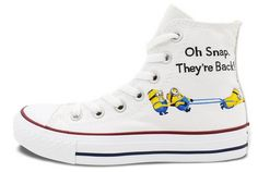 c71b73fb4a92c7 Minions Converse All Star Men Women Hand Painted Customizable Hi. Painted  ConversePainted SneakersPainted ...