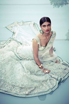 Pale ice mint.. Stunning. <3 Bridal Inspiration: Tarun Tahiliani Spring Summer 2014