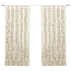 Add feminine appeal to your master suite or living room with this lovely curtain panel, featuring a ruffled design for a touch of texture. ...