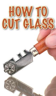 How to Cut Glass at Home by Yourself. A Great Cutting Glass Project. Cutting Glass Bottles, Glass Bottle Crafts, Stained Glass Designs, Stained Glass Projects, Stained Glass Art, Bottle Art, Stained Glass Patterns, Mosaic Glass, How To Cut Mirror