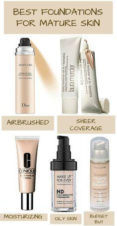 best foundations mature skin