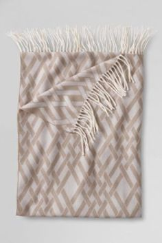 Woven Lattice Throw from Lands' End