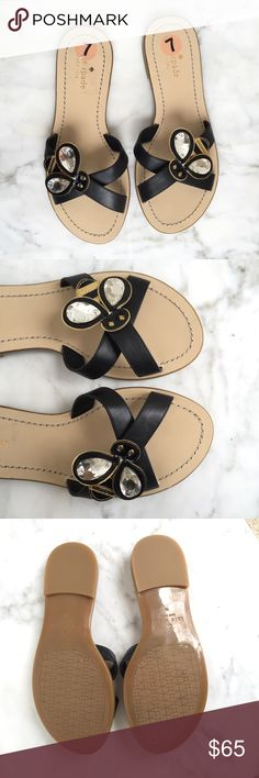 Kate Spade Colby Bee Sandals NEW New without box   The shoes do show markings from store try ons. One of the jewels has markings underneath.   No trades or holds   T20 kate spade Shoes Sandals