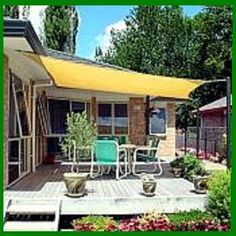 awnings for decks  | ... SHADE SAIL FOR PATIO POOL HOT TUB AWNING DECK For Sale - New and Used