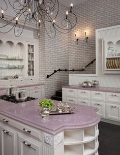 lovely lavender counters.
