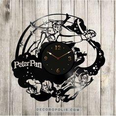Peter Pan wall clock vinyl record Disney LP