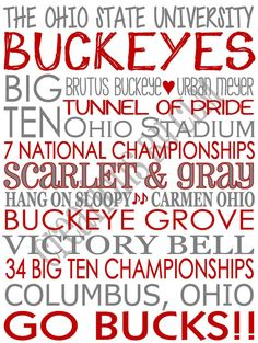 Subway Art  The Ohio State University Buckeyes 'Rustic' Looking Canvas. Home Decor. Sign. by CreationsbyCLM, $30.00