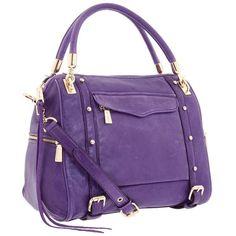 Rebecca Minkoff CUPID Satchel in Viola (29.845 RUB) ❤ liked on Polyvore featuring bags, handbags, accessories, purses, purple handbags, leather satchel, satchel purse, purple satchel handbag and genuine leather satchel handbags
