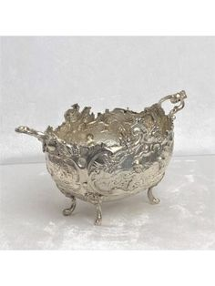 Barock Henkelschale ca. Silber) ID: Decorative Bowls, 18th, Baroque, Silver