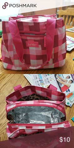 Nicole Miller lunchbox Nicole Miller lunchbox checkered pink...gently used Nicole by Nicole Miller Bags