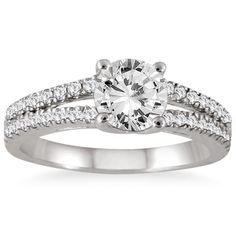 14k White Gold 1 1/3ct TDW Double Row Diamond Engagement Ring (I-J, I2-I3) LOOOOOOVVVVEEEEE