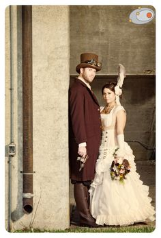 this steampunk couple really went all out.
