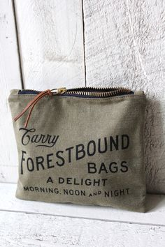 WWII era Canvas Logo Pouch from forest bound.com in Boston