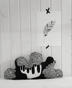 """Wölkchen """"Black and White"""" von annipalanni handmade auf DaWanda.com"""