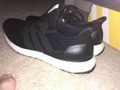 c3e080fd51381 DS Adidas Ultra Boost BB6166 BLACK 4.0 12 Running Sneakers