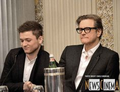 Kingsman: Secret Service Roma Photocall and Conference Colin Firth, Taron Egerton