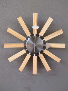 wood radiation nature clock by george nelson, at red