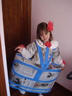 Carnaval 2013: Las Meninas de Velázquez | El profe Salva y la clase de 3ºB Art Costume, Diy Costumes, Halloween Costumes, Halloween Ideas, Infanta Margarita, Crafts From Recycled Materials, Crafts For Kids, Arts And Crafts, Fancy Dress