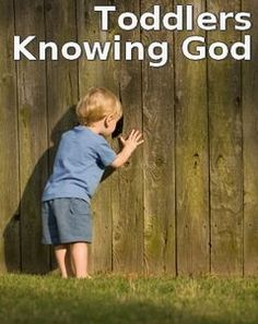 Simple Bible lessons to help toddlers understand their Creator :)